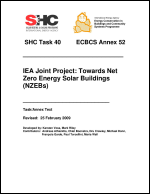 Annex Final Revised:  Towards Net Zero Energy Solar Buildings